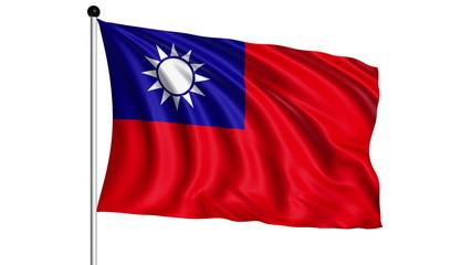 flag of Taiwan - loop (+ alpha channel)