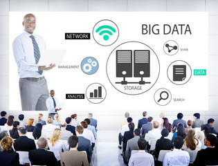Business People in a Big Data Seminar