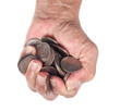 Fistful of coins