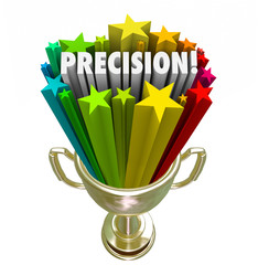 Precision Word Accurate Aim Goal Achieved Trophy Winner