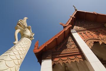 Thai dragon statue at Wat Hua Kwuang temple