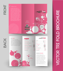 Beauty Care & Salon Tri-Fold Brochure Mock up Design