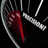 Precision Word Speedometer Accuracy Aim Perfect Targeting poster