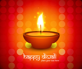 Beautiful Happy diwali diya colorful hindu festival shiny backgr