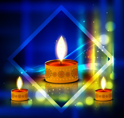 Vector diwali shiny background colorful card illustration