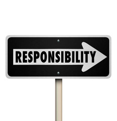 Responsibility Passing Job Duty Work Delegate One Way Sign