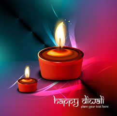 Diwali festival elegant card colorful design for Vector backgrou