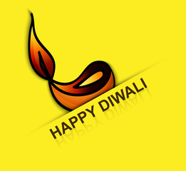 Elegant card design for traditional Happy Diwali fantastic vecto