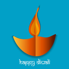Happy Diwali card for Festival Vector background illustration