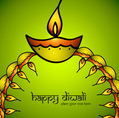 Vector design for Diwali diya presentation festival colorful bac