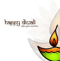 Happy Diwali card for artistic colorful vector background