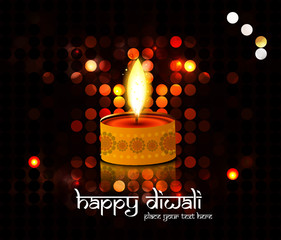 Diwali Diya Oil Lamp indian festival colorful circle background