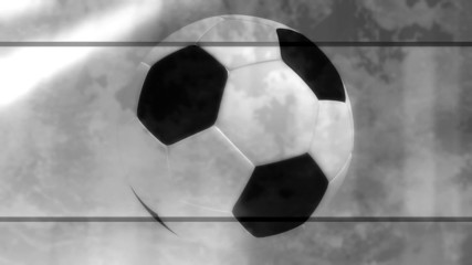 Black and White Soccer looping Background Four