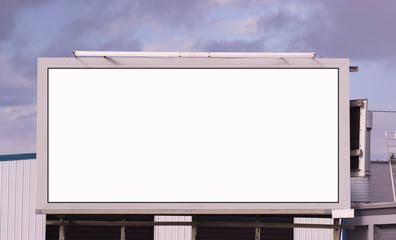 Your Message Here Blank City Billboard Sign Advertising Space