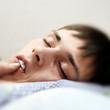 Teenager sleeping