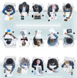 canvas print picture - Group of Diverse Business People in a Meeting