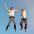 Tennage Boys jumping