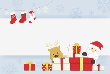 サンタとトナカイ メッセージ