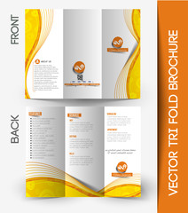 Tri-fold Brochure Design Element, Vector Illustartion.