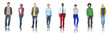 Leinwanddruck Bild - Group of People Standing in a Row
