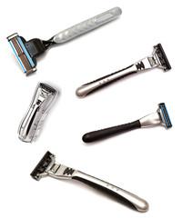 Collection of men's razors for shaving