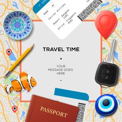 Travel time template.