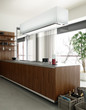 Kitchen accented in Wood (focus)
