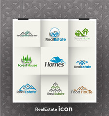 Symbol of Real State Logo Design, isolated vector design