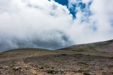 山上の縦走路