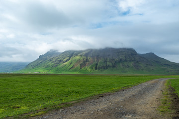Typical landscape in South Iceland.