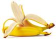 Ripe peeled banana - 71255339
