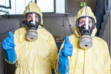Health workers give an all clear after ebola alarm