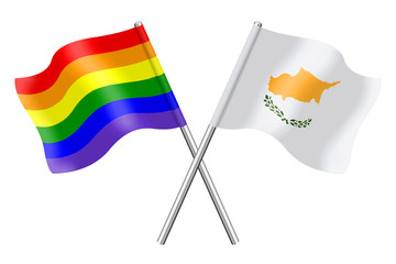 Flags: Cyprus and rainbow