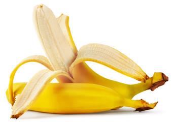 Ripe peeled banana