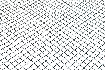 Wired fence on white background