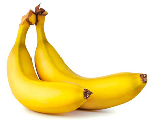 Two yellow ripe banana
