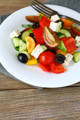 vegetable salad with soft cheese, Greek