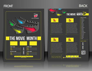 The Movie Month Front & Back Flyer Template
