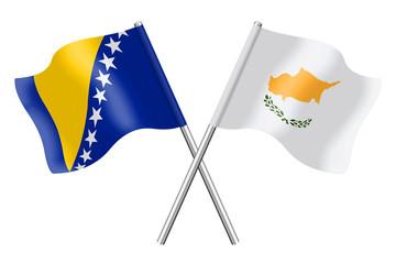 Flags: Bosnia-Herzegovina and Cyprus