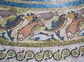 Mosaic tile background.