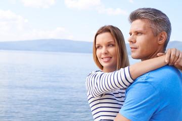 Couple on the sea