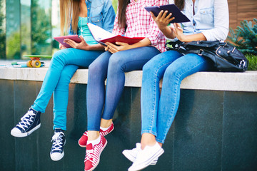 Students in jeans