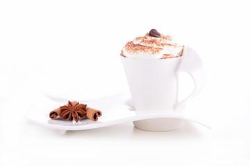coffee with cream foam