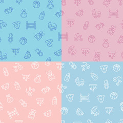 Baby colorful seamless vector