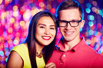 Young couple at nightclub