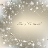 Fototapety Christmas greeting card, background with decoration