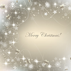Christmas greeting card, background with decoration