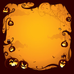 Halloween pumpkin border for design