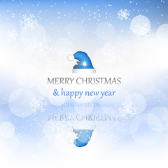 Christmas and New Year background with decoration