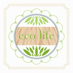 emblem of eco life organic foods and products design